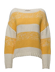 SFKASSANDRA LS KNIT BOATNECK EX - SOLAR POWER