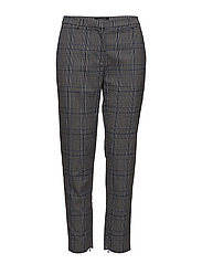 SFMUSI CROPPED MW PANT BLUE CHECK EX - ESTATE BLUE