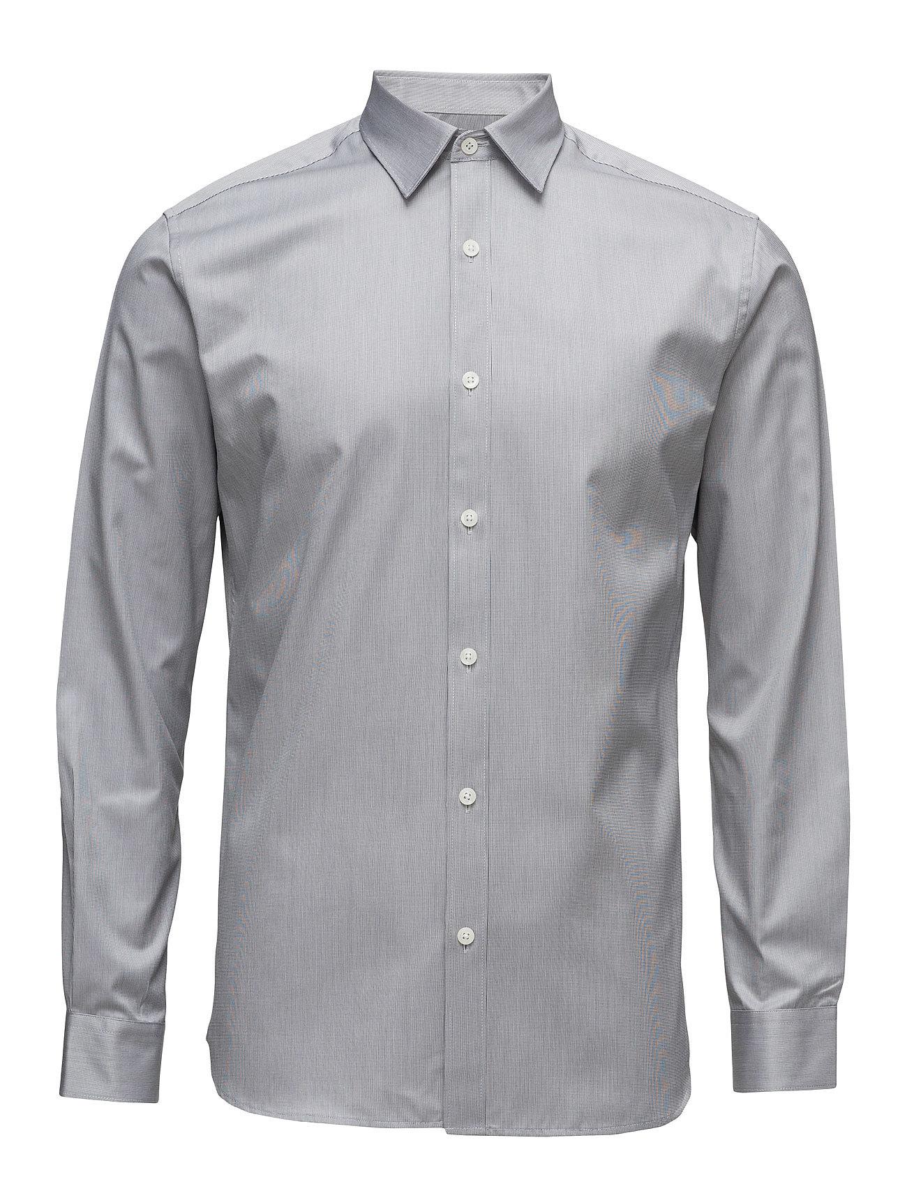 Shdone-Pellesantiago Shirt Ls  Noos Selected Homme Business til Herrer i Grey Melange