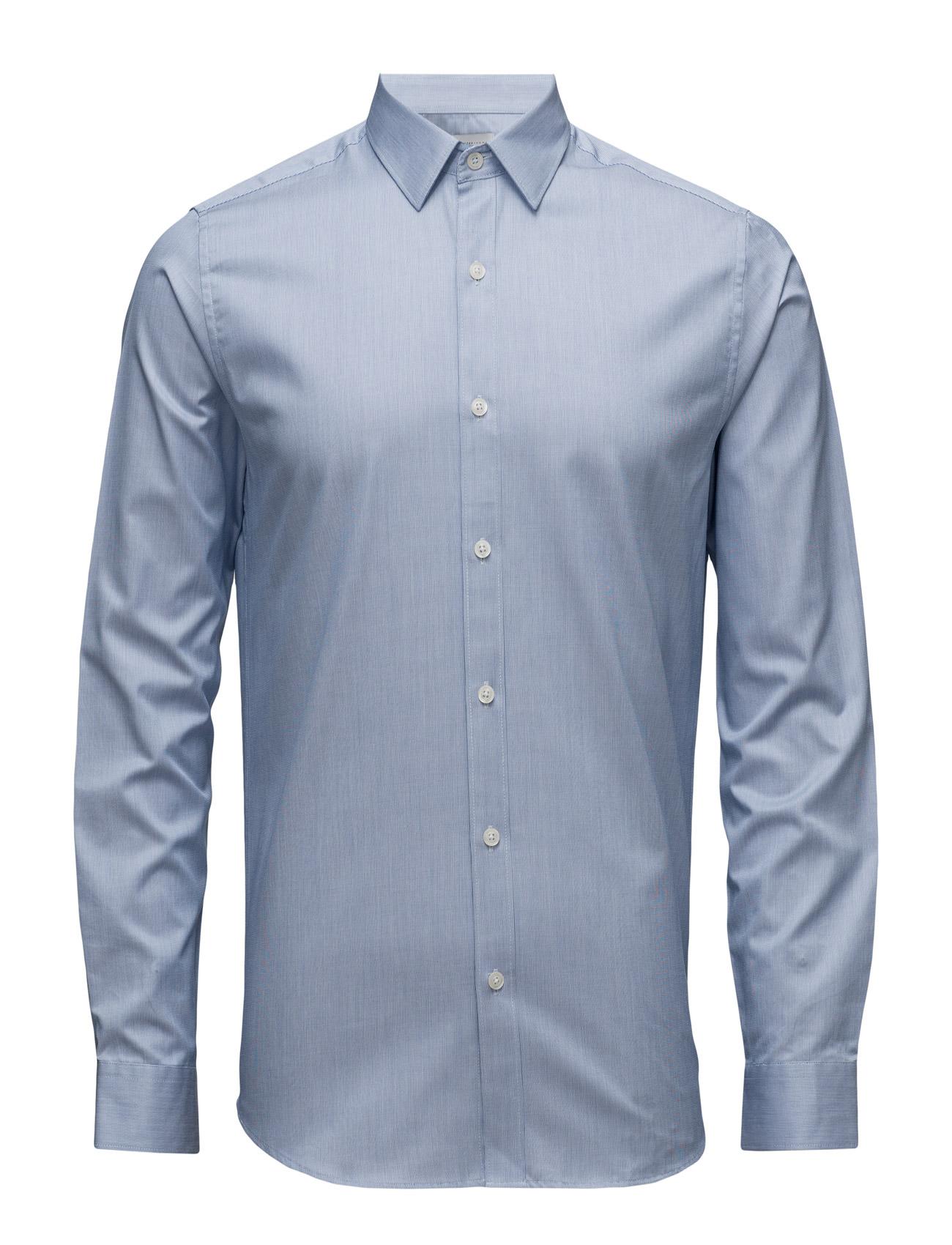 Shdone-Pellesantiago Shirt Ls  Noos Selected Homme Business til Herrer i Classic Blå