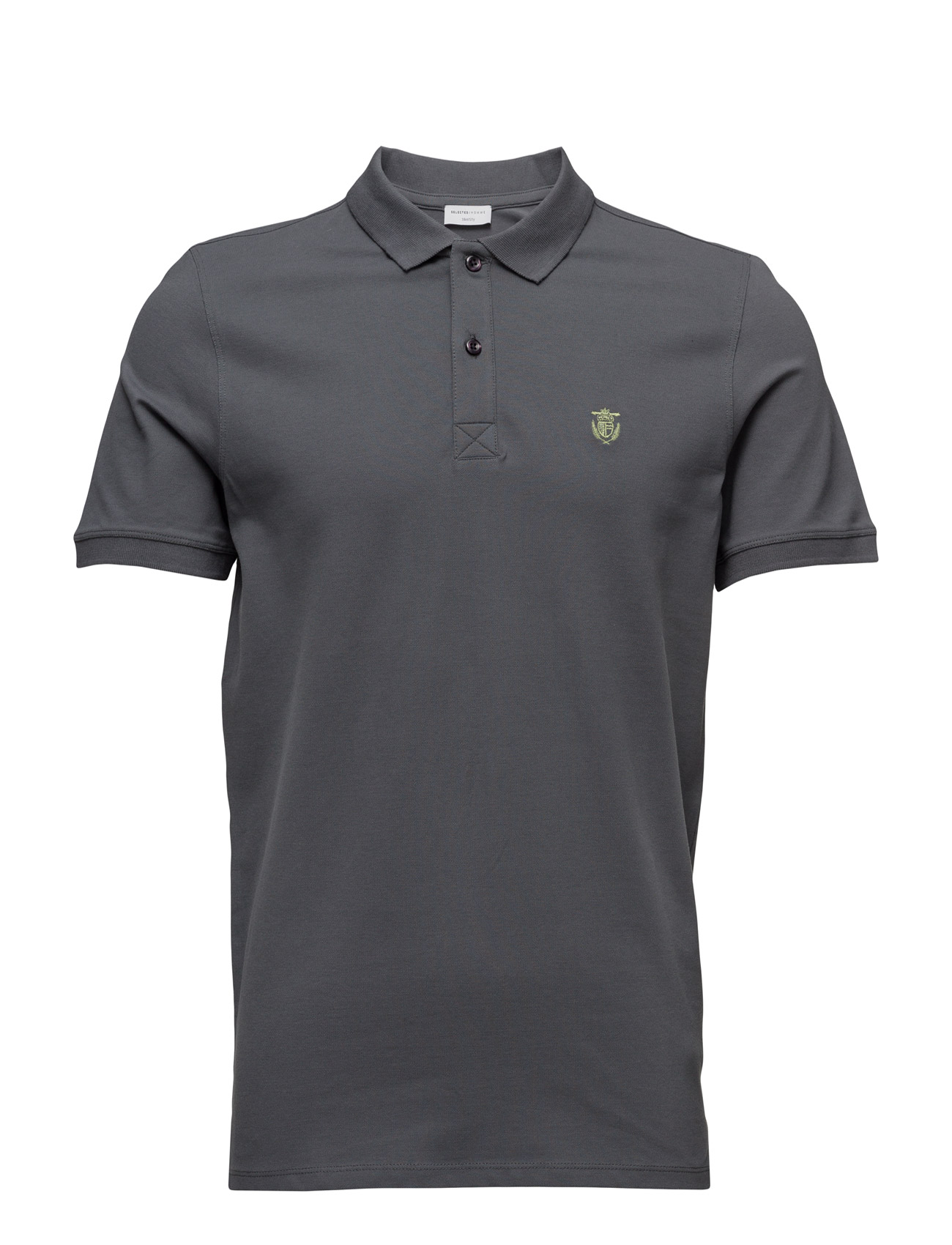 Shdaro Ss Embroidery Polo Noos Selected Homme Kortærmede polo t-shirts til Mænd i