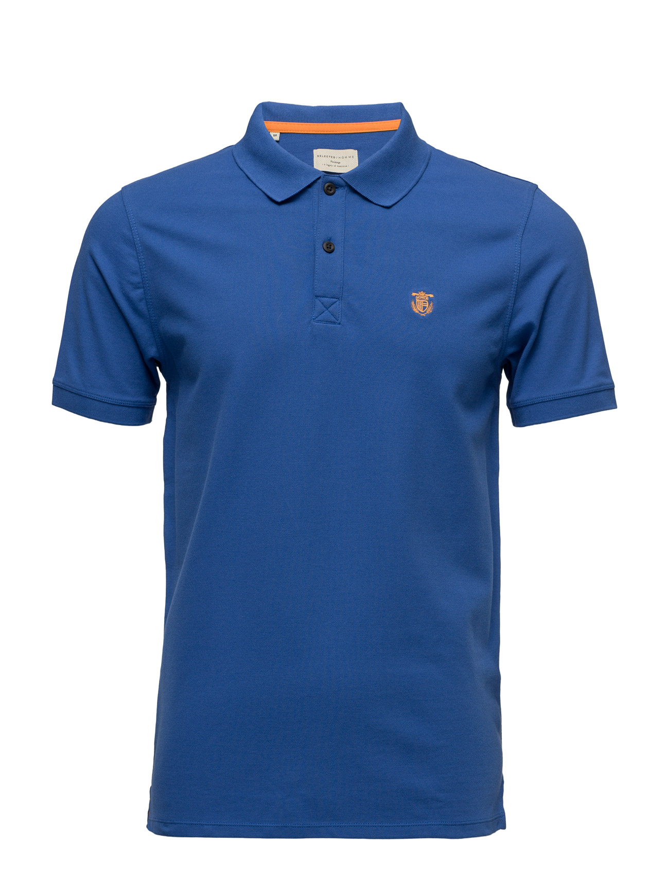 Shdaro Ss Embroidery Polo Noos Selected Homme Polo t-shirts til Mænd i