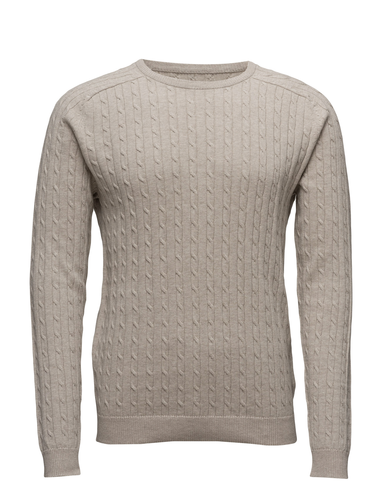 Shhclay Cable Crew Neck Selected Homme Rundhalsede til Herrer i SAND