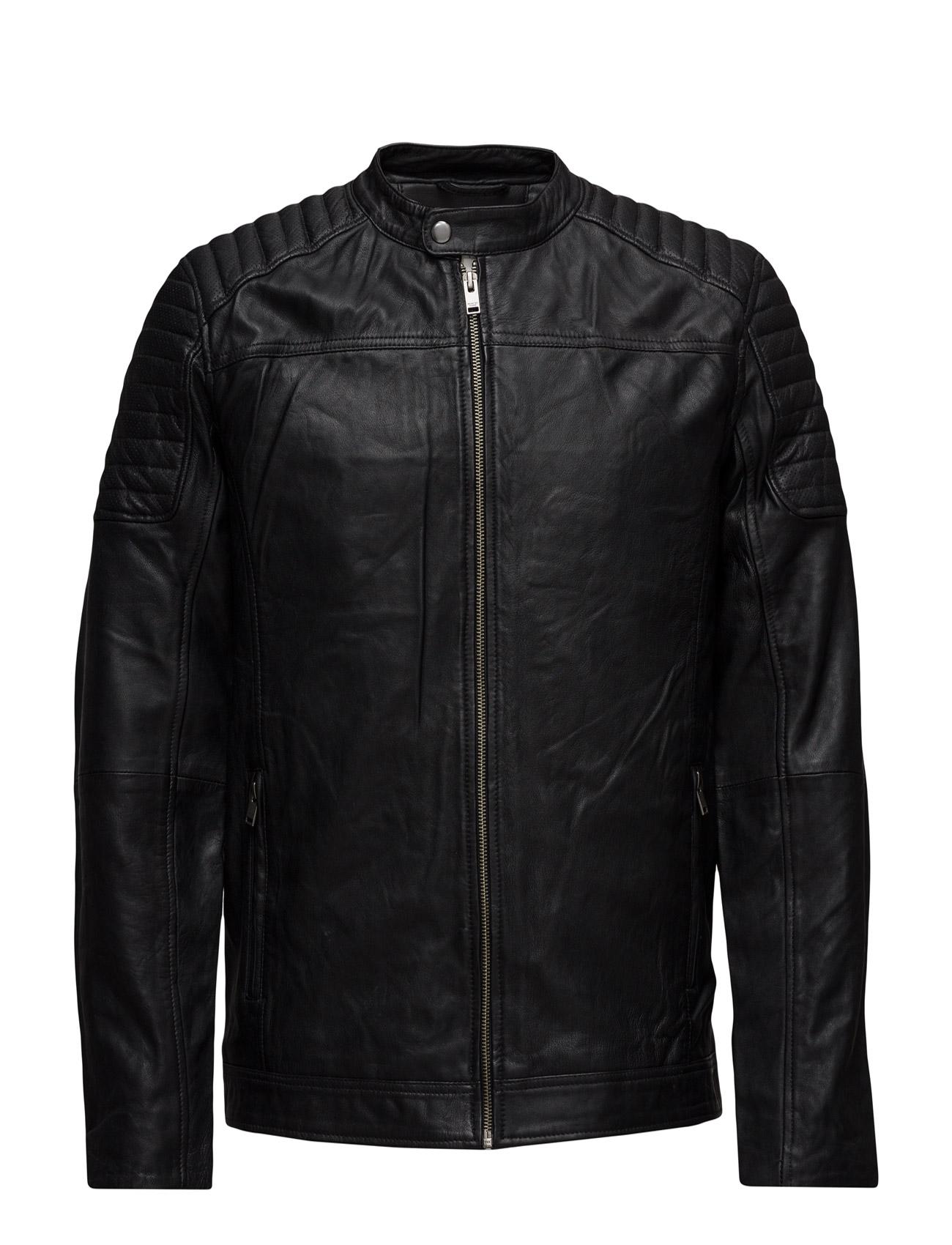 Shnlondon Leather Jacket Selected Homme Jakker til Mænd i Sort