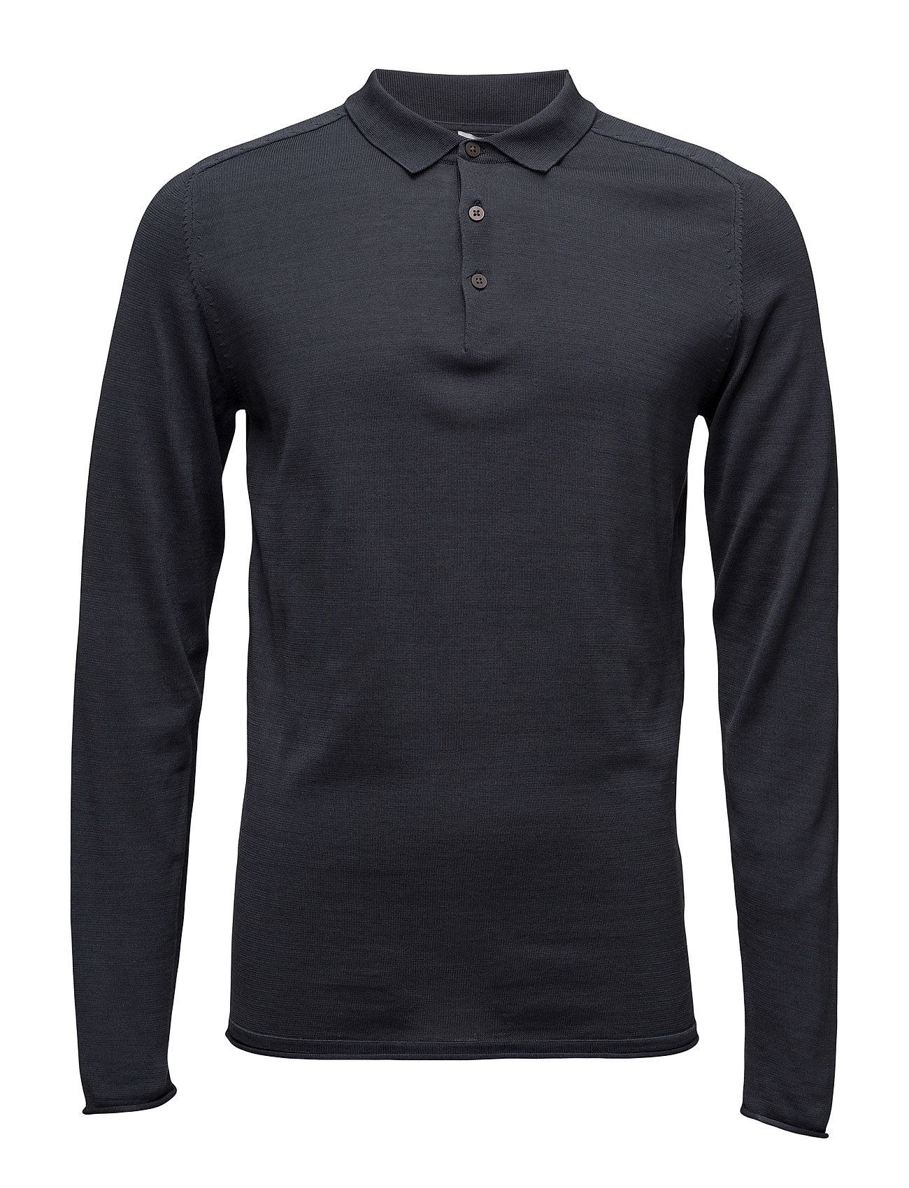 Shdporter Knitted Polo Selected Homme Længærmede polo t-shirts til Herrer i