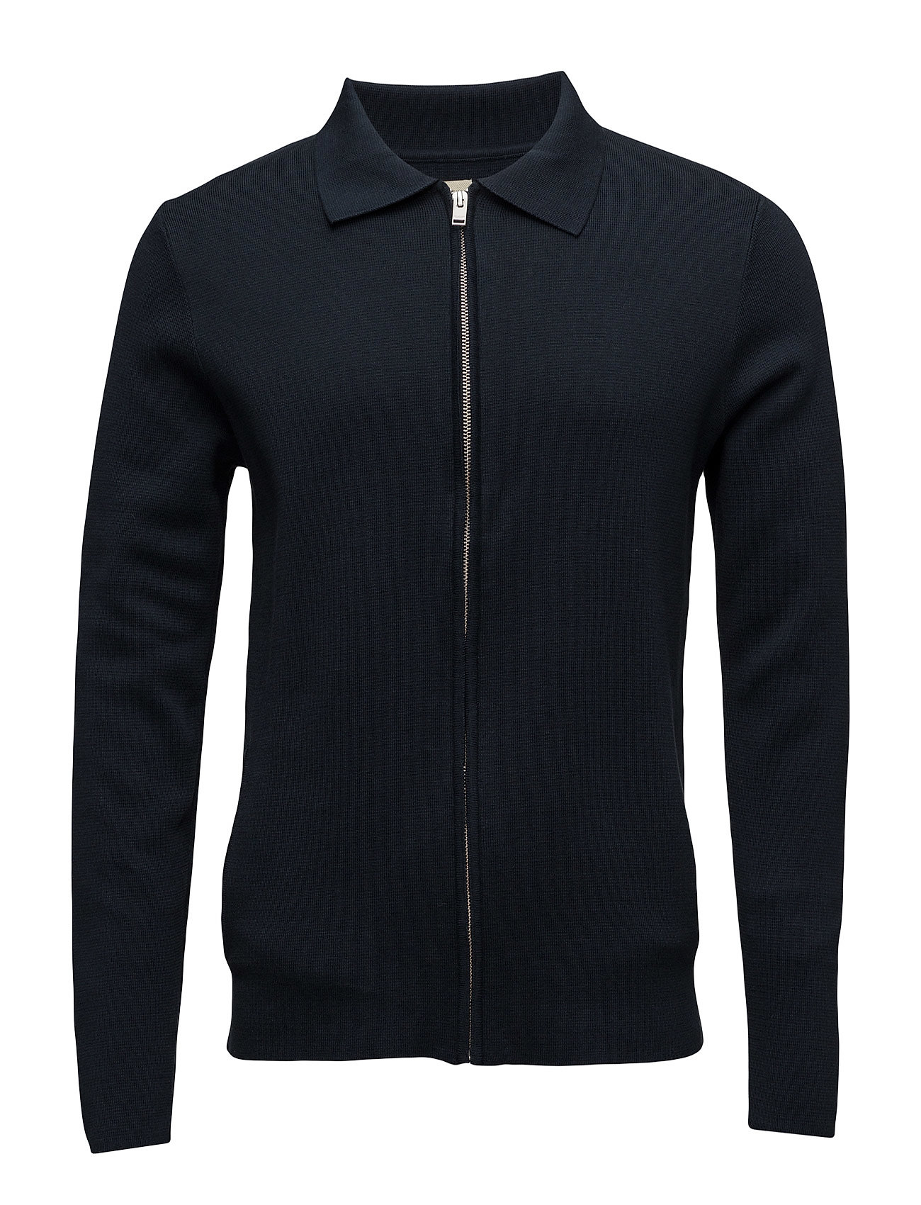 Shhjakob Knitted Jacket Selected Homme Cardigans til Herrer i Mørk Sapphire