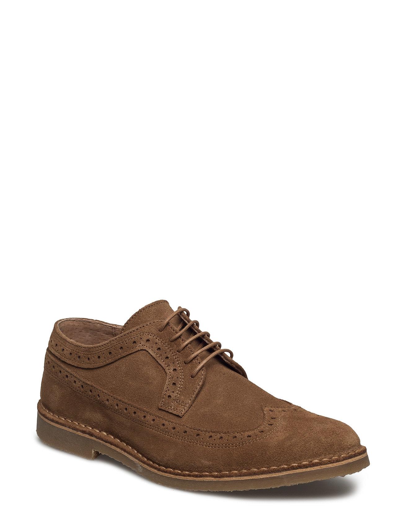 Shhroyce New Light Suede Brogue Shoe Selected Homme Casual sko til Herrer i cognac