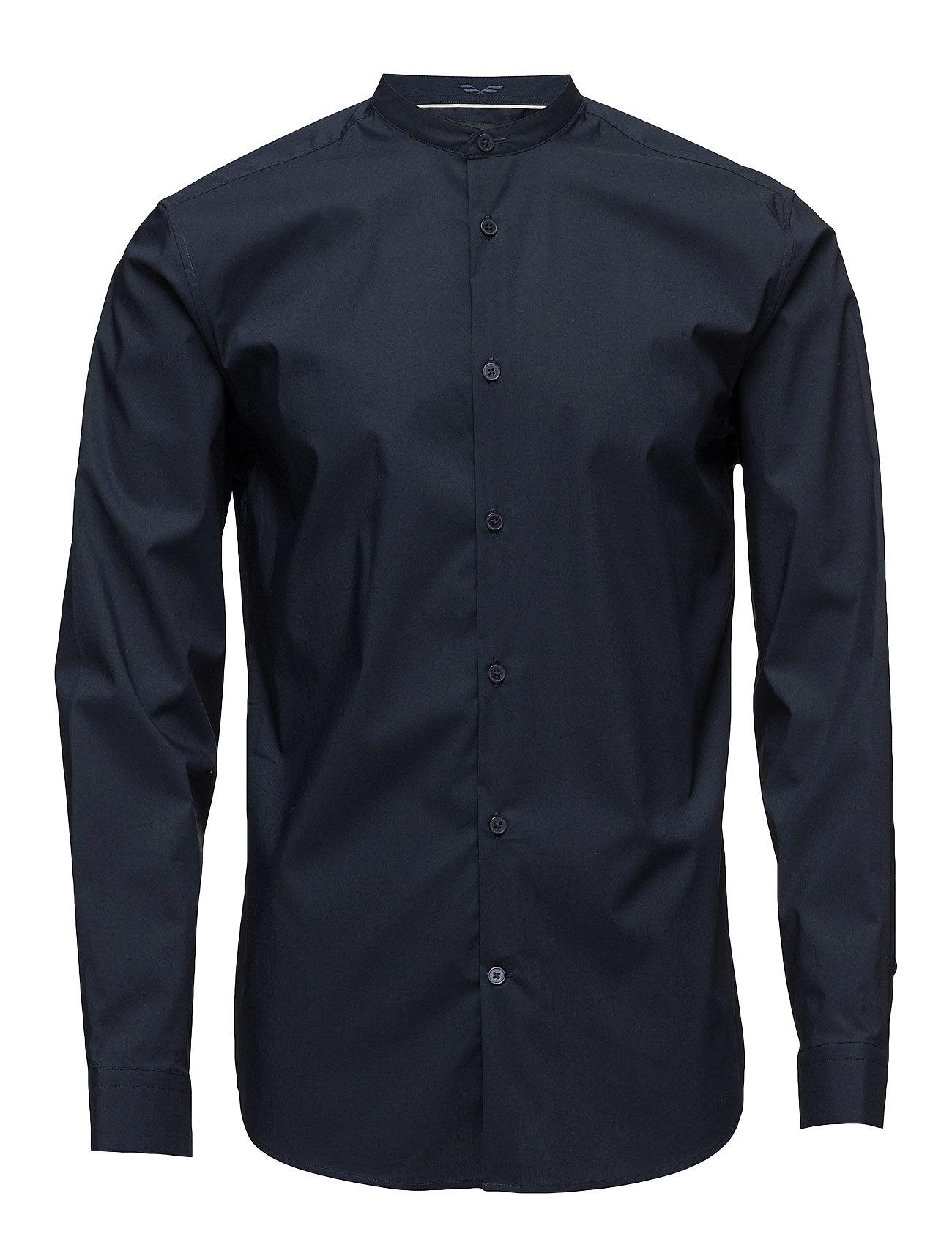 Abonechina Shirt Ls Selected Homme Trøjer til Mænd i Mørk Sapphire