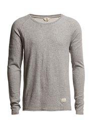 Raber ls o-neck J - Light Grey Melange