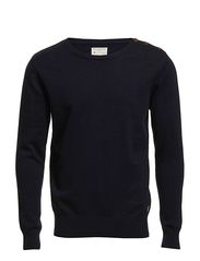 Nevada split crew neck NOOS H - Dark Sky