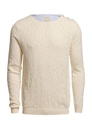 Selected Homme Leth split crew neck C