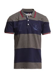 Selected Homme Member stripe ss polo C