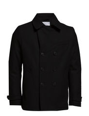 SHMercer DB Pea Coat ID - Black