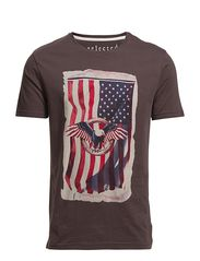 Selected Homme Eagle flag ss o-neck J