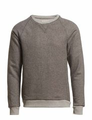Morris crew neck sweat J - Light Grey Melange