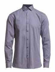 Newhall shirt ls r F - Navy
