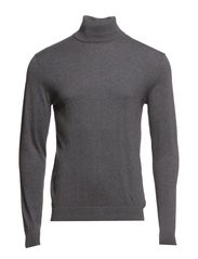 Tower aus cotton roll neck ID - Medium Grey Melange