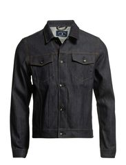 Selvedge comfort denim jacket I - Dark Blue Denim
