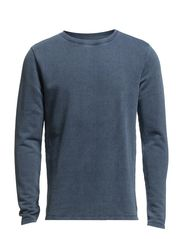 Even crew neck sweat I - Evening Blue