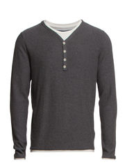 Thor double v-neck HX - Medium Grey Melange