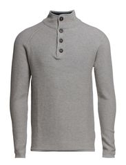 Vince button neck I - Light Grey Melange