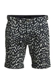 White drops print shorts IX - Dark Navy
