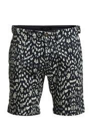 White drops print shorts IX - Dark Navy