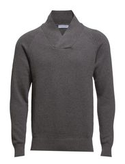 Troy shawl neck BP ID - Medium Grey Melange