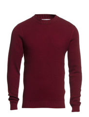 Damian crew neck BP ID - Oxblood Red