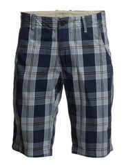 Leway2 big blue check shorts H - Federal Blue