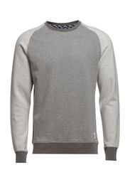 Dubb crew neck sweat H - Medium Grey Melange