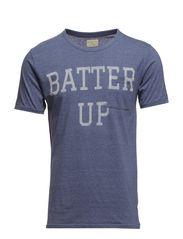 Batter up ss o-neck H - Vintage Indigo