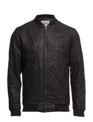 Al Bomber Leather Jacket I - Black