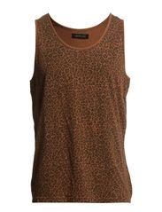 Leopard print tank top IX - Arabian Spice