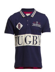Rugby ss polo H - Peacoat