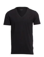Pima drill ss deep v-neck NOOS ID - Black