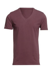 Pima drill ss deep v-neck NOOS ID - Huckleberry
