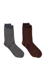 Neo sock 2-pack H - Medium Grey Melange