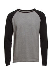 Jump baseball crew neck 100% cotton I - Black