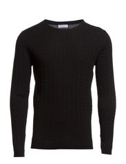 Clayton cable knit 100% cotton BP ID - Black