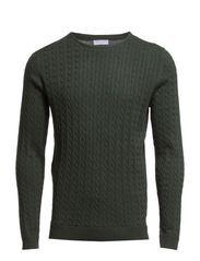 Clayton cable knit 100% cotton BP ID - Climbing Ivy