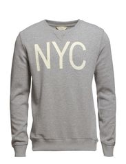 City crew neck sweat H - Light Grey Melange
