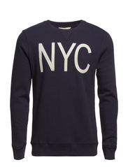 City crew neck sweat H - Night Sky