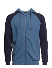 Urban reger zip hood sweat HX - Moonlight Blue