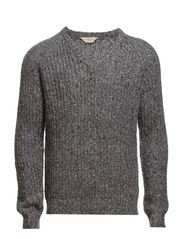 Kinks v-neck IX - Grey Melange