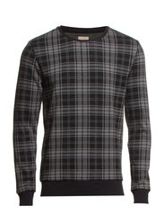 Checked crew neck sweat IDX - Grey