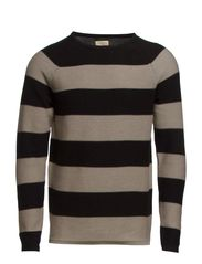 Vince striped crew neck IX - Black