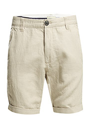 Three paris sand linen shorts H - White Pepper