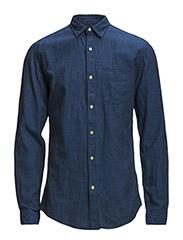 One SHLiam shirt ls I - Dark Blue