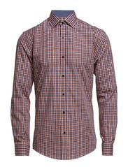 One SHLeyton shirt ls ID - White, blue, orange